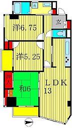 コンスイート中村[2階]の間取り