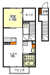 カーサ・フォレスト[2階]の間取り