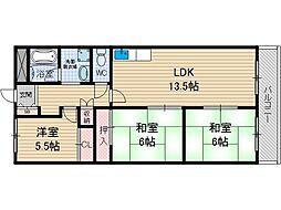 レジオン小島[5階]の間取り