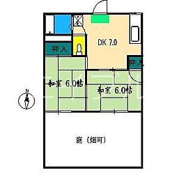 ロイヤルレジデンスマキ[1階]の間取り