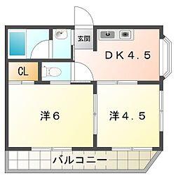 レインフォレスト[2階]の間取り