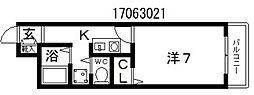 ハートフル21[3階]の間取り