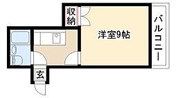 愛知県名古屋市緑区万場山1丁目の賃貸マンションの間取り