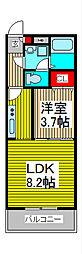 ピニエール武蔵浦和[3階]の間取り