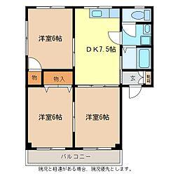 メゾンルーレ[2階]の間取り