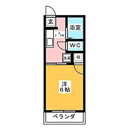 タウニーピノキオ[2階]の間取り