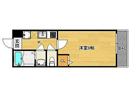 COCO三条天神川[401号室]の間取り