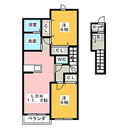 榛の木[2階]の間取り