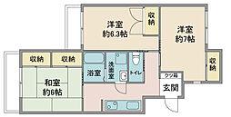 セピア鶴ヶ島[1階]の間取り