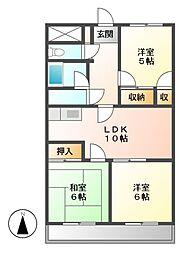 メゾン・ド・UM[6階]の間取り