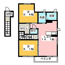 サンルシックI II[2階]の間取り