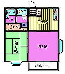サンライズ西浦和[2階]の間取り