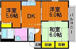 岡山県岡山市中区原尾島丁目なしの賃貸アパートの間取り
