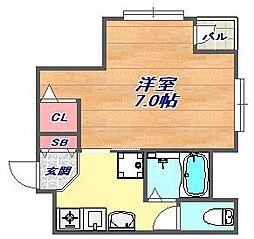 シャトレ六甲[4階]の間取り