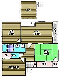 フラッツ向陽台W棟[2階]の間取り