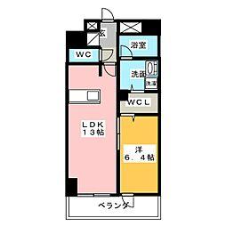 ロイジェント新栄III[3階]の間取り