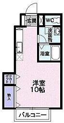 JR奥羽本線 山形駅 バス17分 上桜田下車 徒歩3分の賃貸アパート 1階1Kの間取り