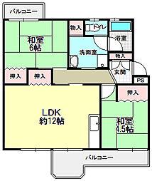男山第4住宅308棟[5階]の間取り