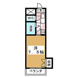 ヴェラノーバ[4階]の間取り