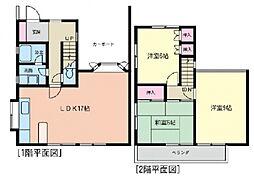 [テラスハウス] 神奈川県横浜市都筑区牛久保3丁目 の賃貸【/】の間取り