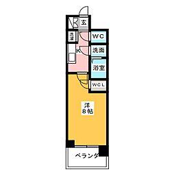 プレサンスジェネ千種内山II[7階]の間取り