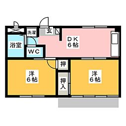 セゾン錦里[1階]の間取り