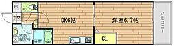 サウスコート[3階]の間取り