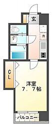 ラグゼ江坂北[6階]の間取り
