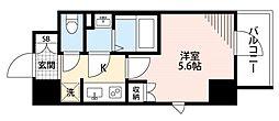 西武新宿線 新所沢駅 徒歩1分の賃貸マンション 4階1Kの間取り