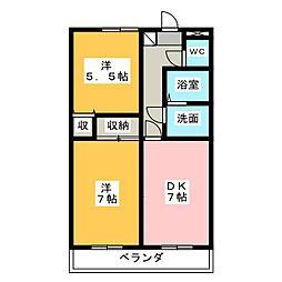 アーバンシティ上浅田[2階]の間取り