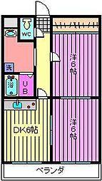 深作大鉄ビル[101号室]の間取り
