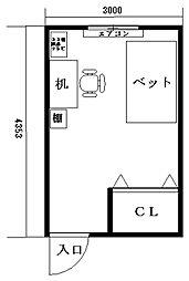秋田学生会館 みくら町[403号室]の間取り