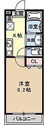 Largo讃州寺[402号室号室]の間取り