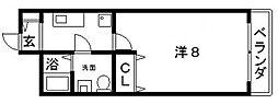 プレミアム西田辺[3階]の間取り