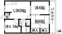 エステートピアスターハイツA棟[2階]の間取り