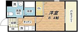 ダイドーメゾン大阪北堀江[4階]の間取り