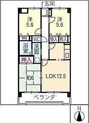 グランドマンション[2階]の間取り