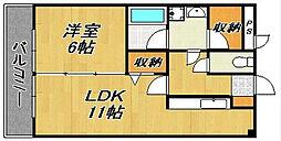 六本松NRIIビル[2階]の間取り