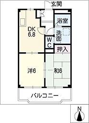 ブラウンハウス[1階]の間取り