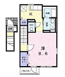 東京都練馬区旭丘1丁目の賃貸アパートの間取り