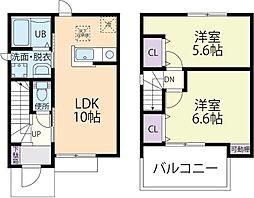 T-rapa(ティーラパ)B 2階2LDKの間取り