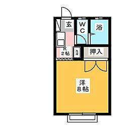 ヒルズ13A[1階]の間取り