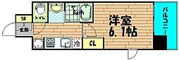 エステムコート難波WEST-SIDEVIグラッド[2階]の間取り