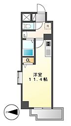 HF名駅北レジデンス(WEST)[4階]の間取り