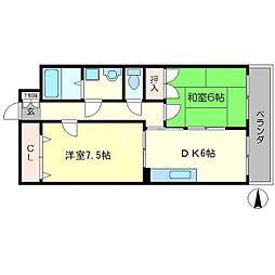 グリーンピアOMK[4階]の間取り