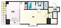 ノルデンタワー新大阪アネックス[19階]の間取り