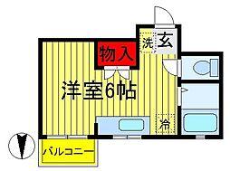 KSマンション[310号室]の間取り