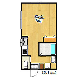 千葉県船橋市夏見2丁目の賃貸アパートの間取り