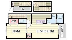 JR東海道・山陽本線 明石駅 バス12分 変電所前下車 徒歩5分の賃貸アパート 3階1LDKの間取り