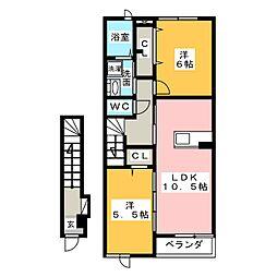 サンヒルズ希央台[2階]の間取り